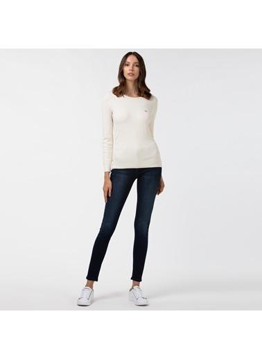 Lacoste Kadın Slim Fit Jean Pantolon HF2104.04M Mavi